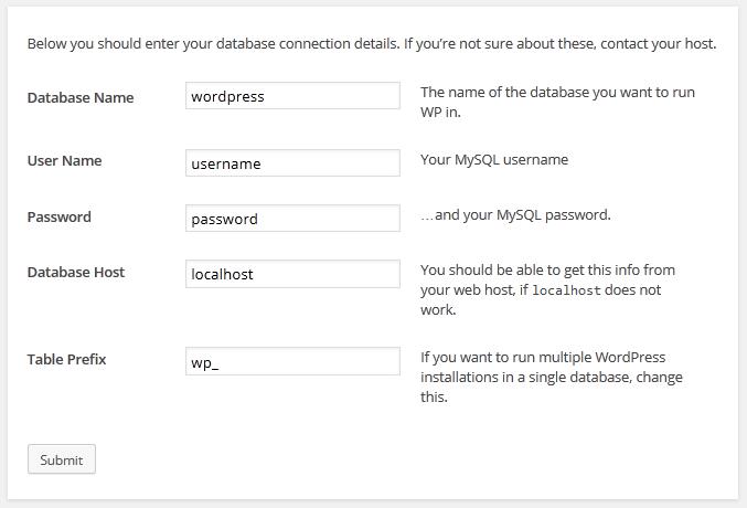 cara install wordpress secara localhost