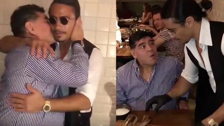 Maradona le recomendó a Maduro visitar al chef Salt Bae