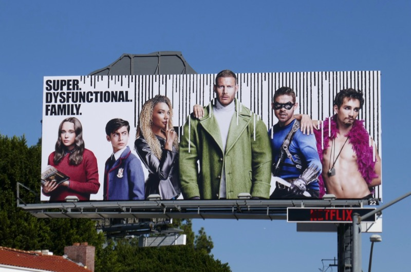 Umbrella Academy series launch billboard