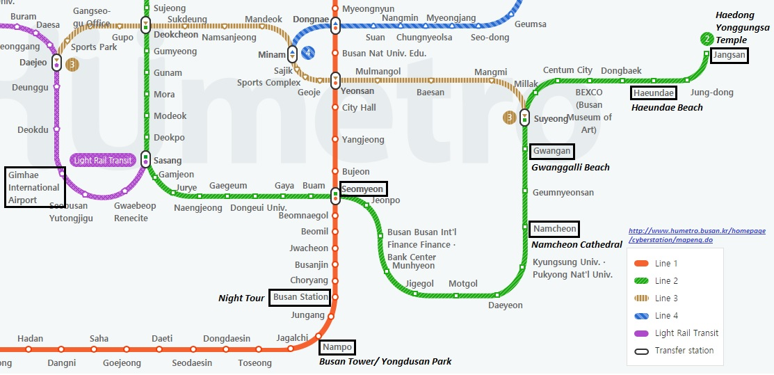 Busan Subway Map 2017.Travel Tales South Korea Itinerary For 3 Days In Busan