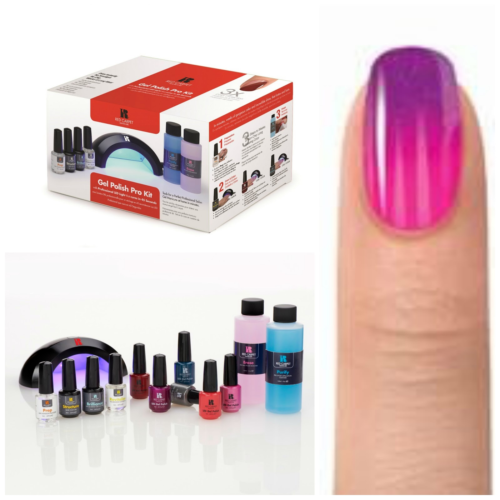 Red Carpet Manicure Nail Art Diy Gel Kit Babushkas Baile