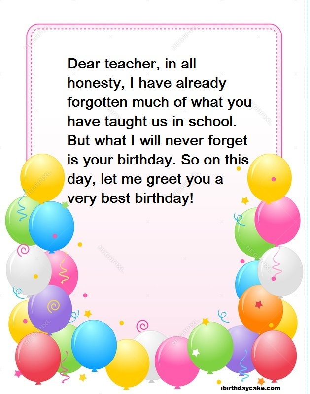 Stupendous 100 Best Happy Birthday Wishes To Teacher 2019 Messages Personalised Birthday Cards Paralily Jamesorg