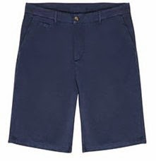 Blue Linen & Cotton Shorts