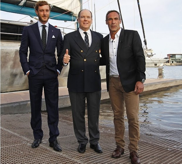 Prince Albert II of Monaco, Pierre Casiraghi and his wife Beatrice Borromeo met with South African and Swiss explorer and adventurer Mike Horn