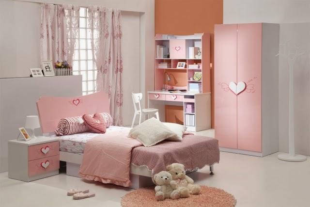 cuarto blanco rosa niña