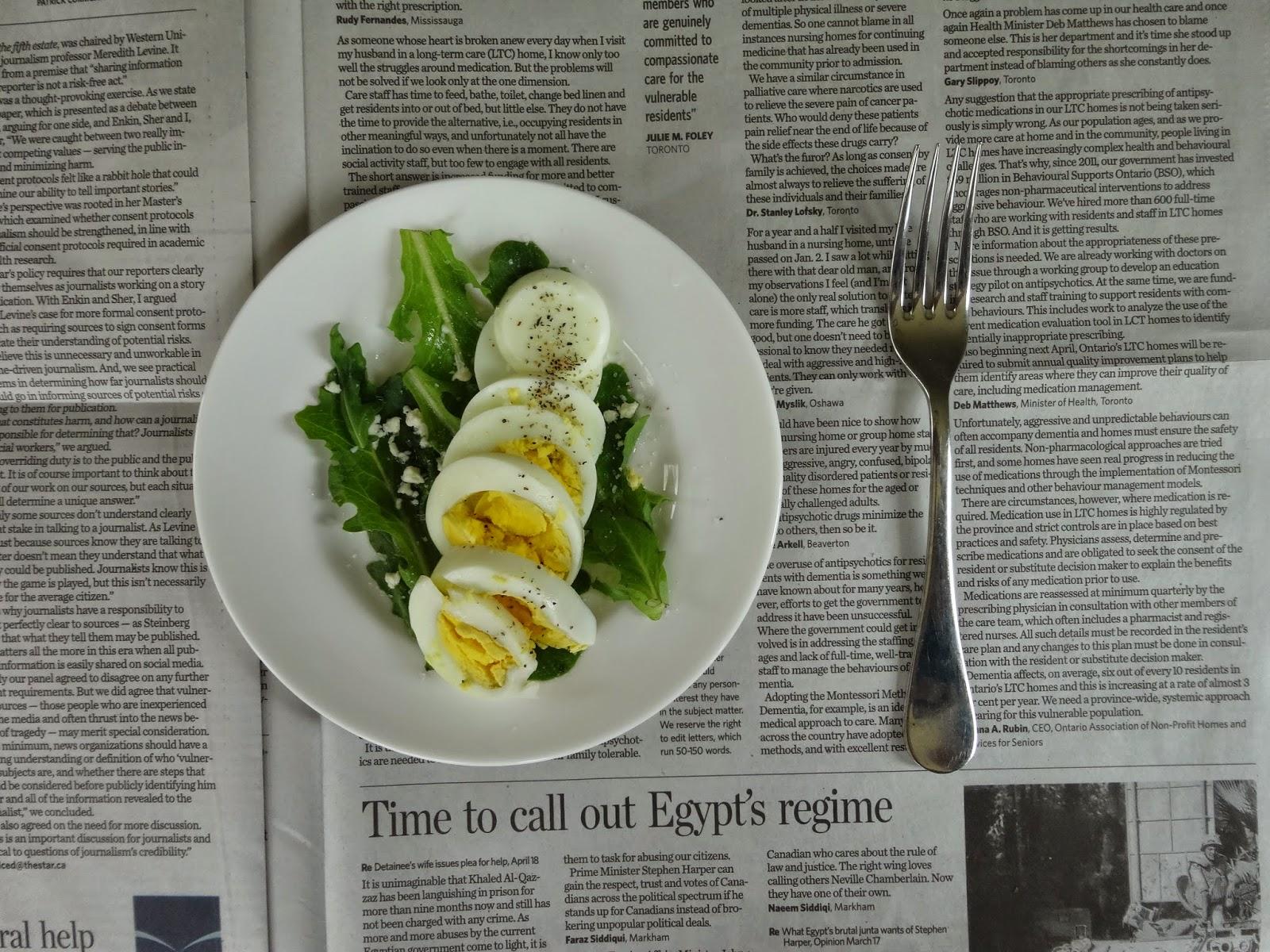 salad, egg, simple, diy ,healthy