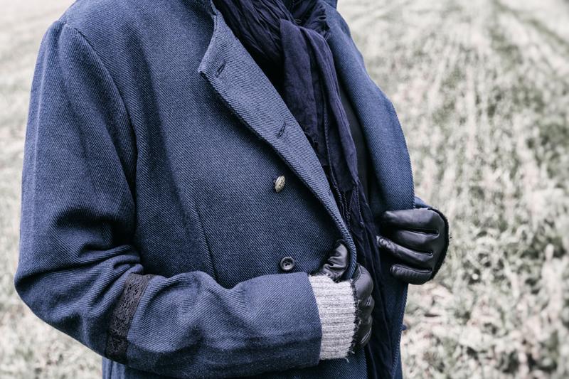 Ewa i Walla, Wynnelis, takki, jacket, naisten muoti, muoti, fashion, ladie´s fashion, jacka, talvitakki, Frida Steiner, valokuvaaja, Visualaddict, talvi, winter, sininen, napit, detalji, details