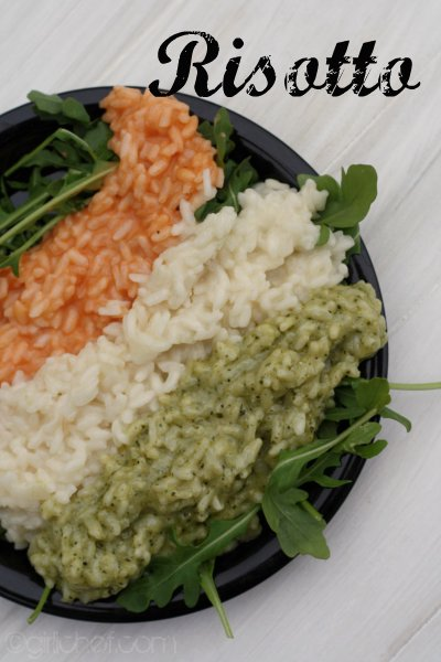 <b>Risotto Bianco</b> <i>(...e rosso o verde)</i> <i>inspired by <b>Big Night</b></i> <i>{food 'n flix}</i>