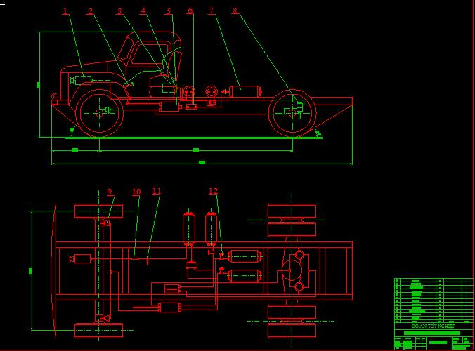 sơ đồ phanh khí xe tải