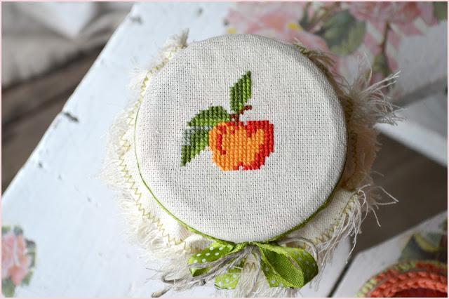вышивка для яблочного варенья