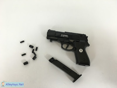 Pistol toy gun with shells come out