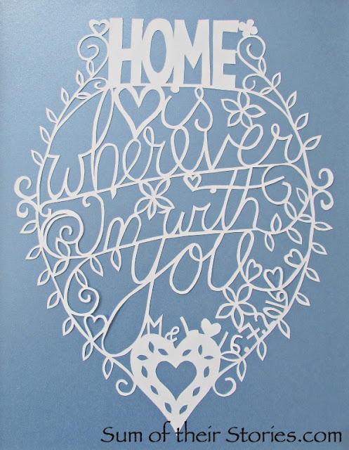 Home is wherever I'm with you papercut