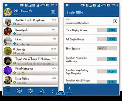 BBM mod Official Blue 2.7.0.23 apk