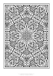 kaleidoscope coloring sheets | Coloring pages, Pattern coloring ... | 320x226