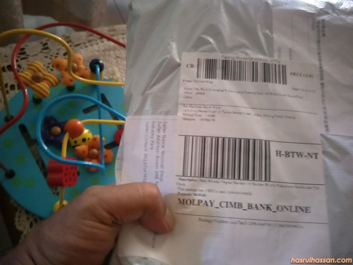 Beli Mainan Import Dari China untuk Najmi