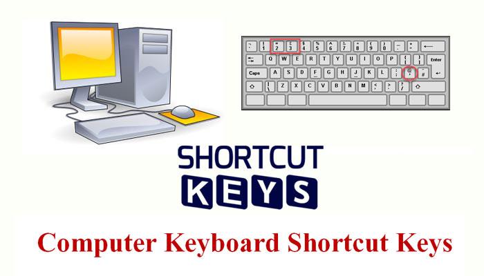 Computer Keyboard Shortcut Keys की पूरी जानकारी हिंदी में