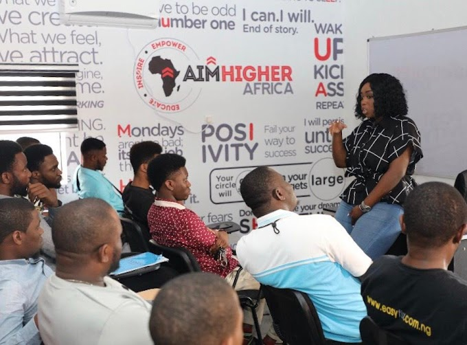 Peace Hyde opens the AHA Skills Acquisition Centre in Lagos
