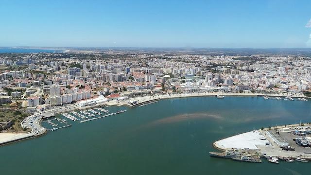 Imagem aérea de Portimão – Portugal