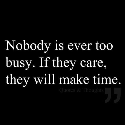 The Truth about being busy.