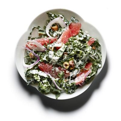 Raw Kale Grapefruit And Toasted Hazelnut Salad