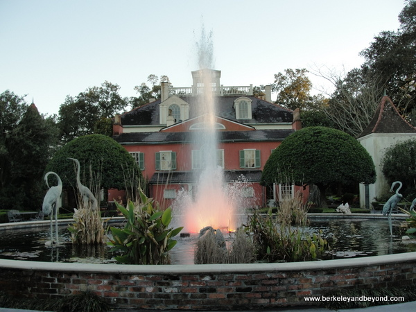 garden fountain at Houmas House Plantation and Gardens in Darrow, Louisiana