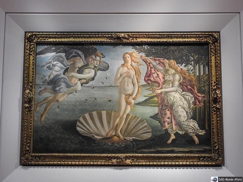 Quadro Nascimento de Venus, de Sandro Botticelli. Galeria Uffizi - Diário de bordo: 2 dias em Florença