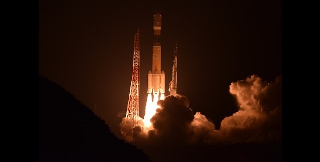 H-IIB rocket takes off from southern Japan Friday. Credit: MHI