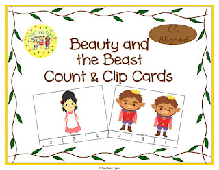 https://www.teacherspayteachers.com/Product/Beauty-and-the-Beast-Fairy-Tales-Count-and-Clip-Task-Cards-902612