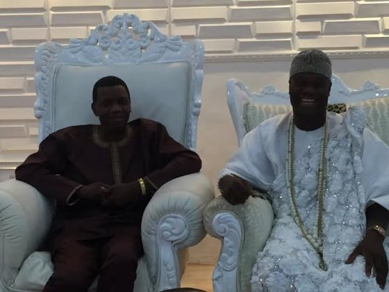 pastor Adeboye and Ooni of Ife Oba Ogunwusi