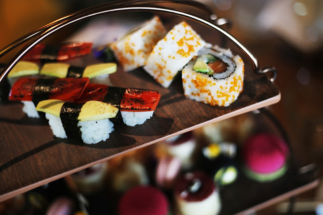 sushi Japanese afternoon tea at Rofuto Birmingham restaurant
