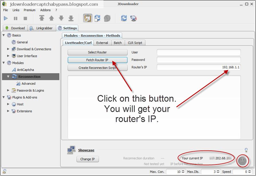 JDowNLoadER ReCoNnEcT] - change ip / get new ip tutorial FREE 100
