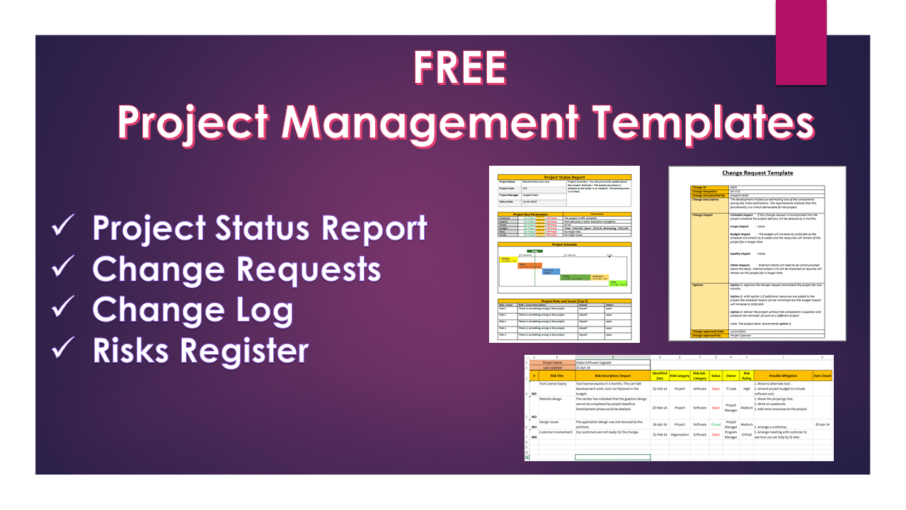Project management templates 20 free downloads for Change log template project management
