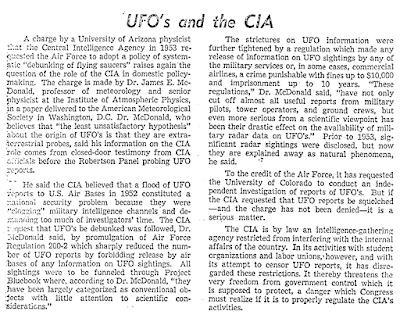 UFOs and The CIA - The Boston Herald 4-24-1967