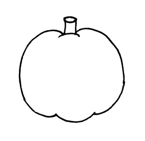 blank pumpkin outline for printing