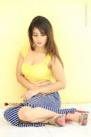 Cute Telugu Actress Shunaya Solanki High Definition Spicy Pos in Yellow Top and Skirt  0268.JPG