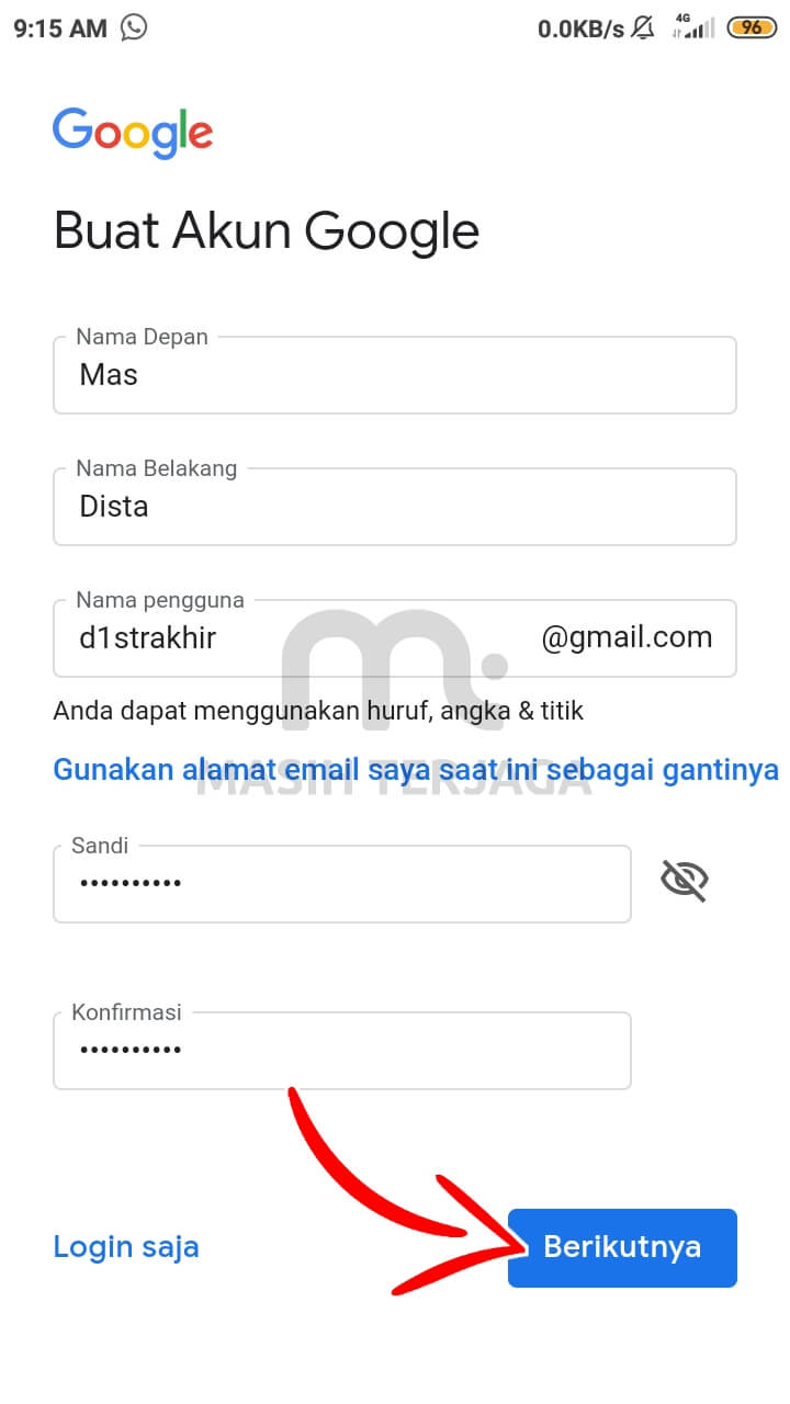 cara membuat email di hp langsung jadi