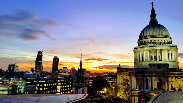 Sunset at St. Paul's Cathedral, the Unfinished City