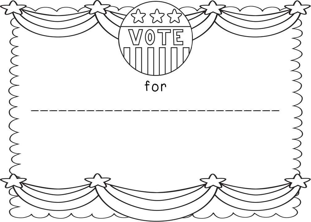 Teacher mom of 3 election selection for Election ballots template