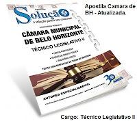 Apostila Impressa Câmara de BH Técnico Legislativo II (IMPRESSA).