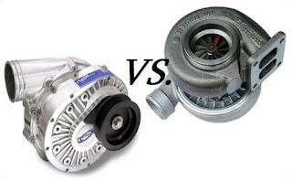 baik itu supercharger atau turbocharger memiliki fungsi yang sama yaitu memampatkan udara Perbedaan Turbocharger Dan Supercharger