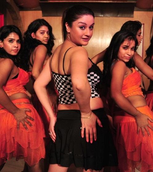 Sonia Agarwal Hot in Short Skirt