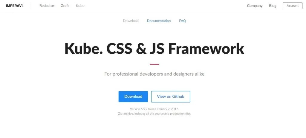 Kube Framework Css