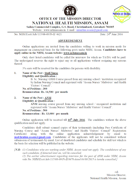 nhm-assan-recruitment-advt-2016