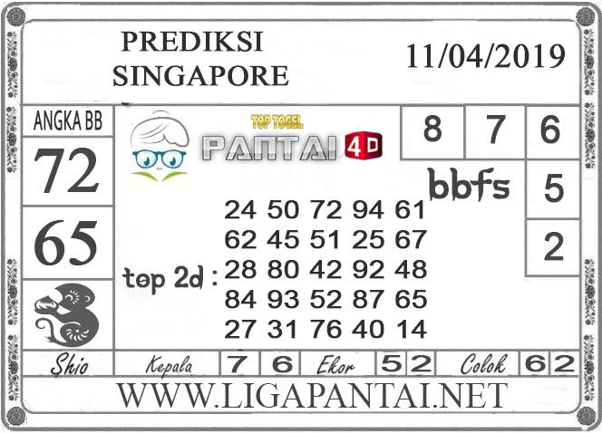 """Prediksi Togel """"SINGAPORE"""" PANTAI4D 11 APRIL 2019"""