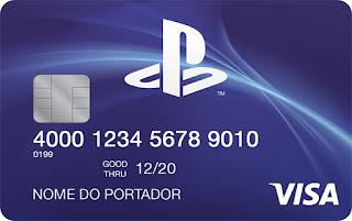 cartão de credito playstation