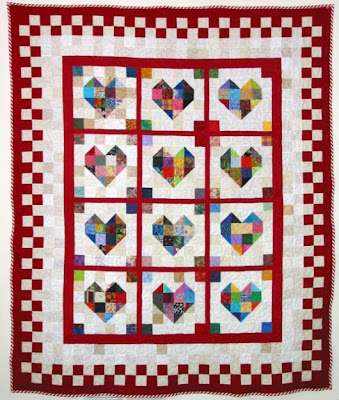 Quilt Inspiration Free Pattern Day Hearts And Valentines Gorgeous Heart Quilt Pattern