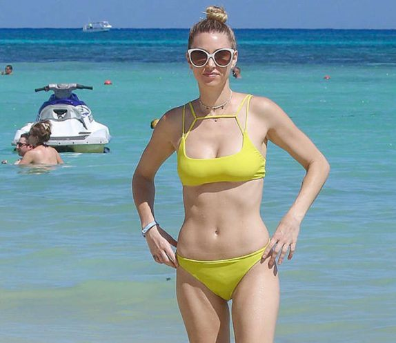 Whitney Port in Yellow Bikini in Cancun