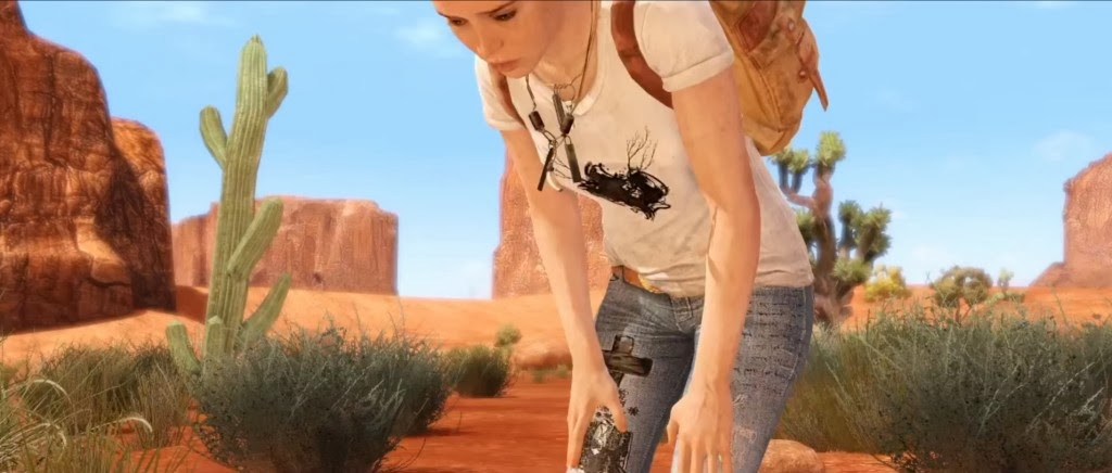Beyond: Two Souls Jodie on the Run Navajo Desert.