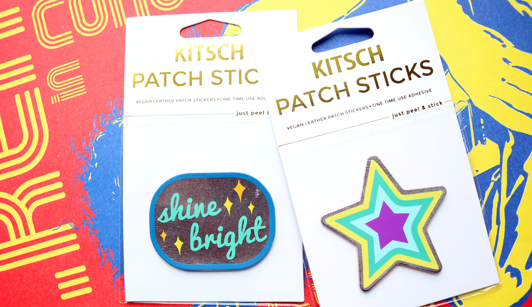 KITSCH Vegan Leather Patch Sticks
