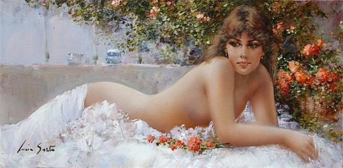 Lucia Sarto 1950 | Italian Romantic Impressionist painter